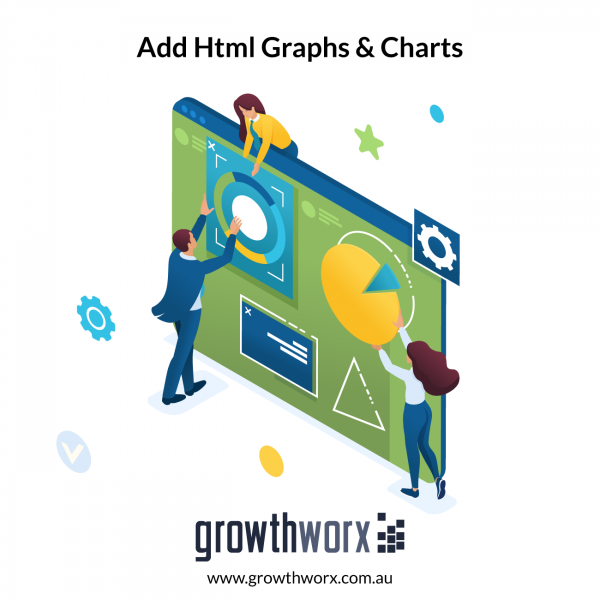 I will add html graphs and charts to your web analytics dashboard 1