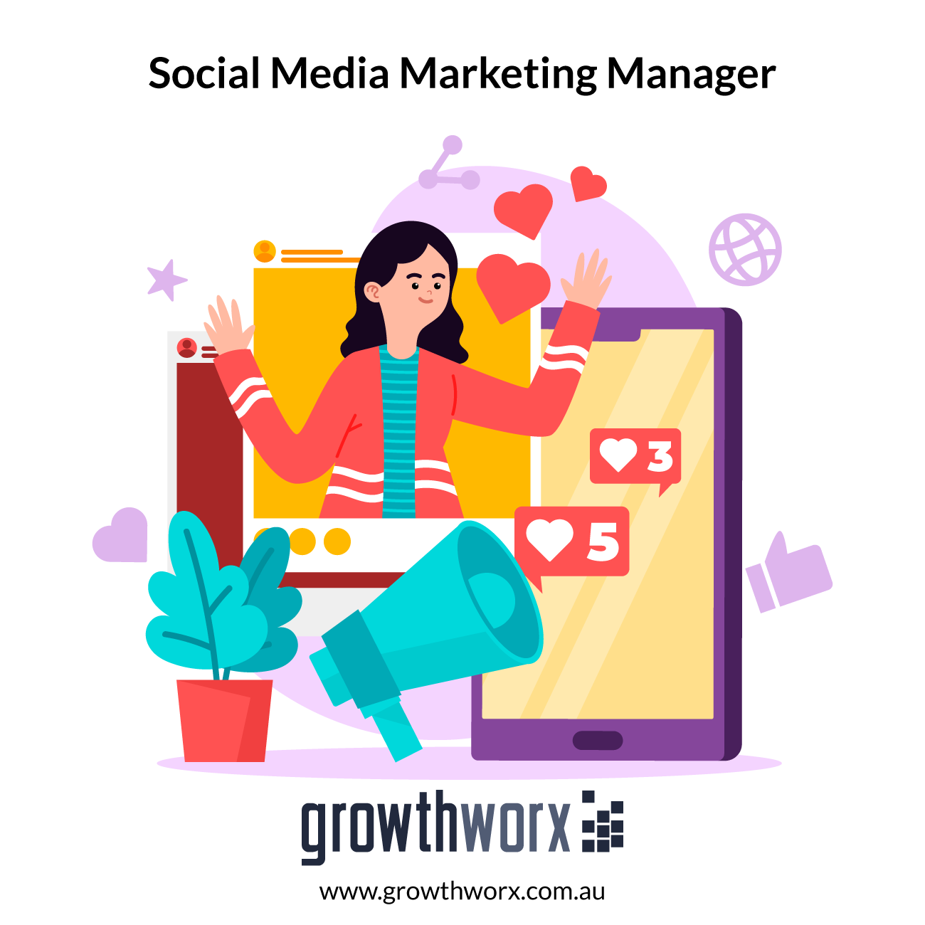 I will be your social media marketing manager for your business 1