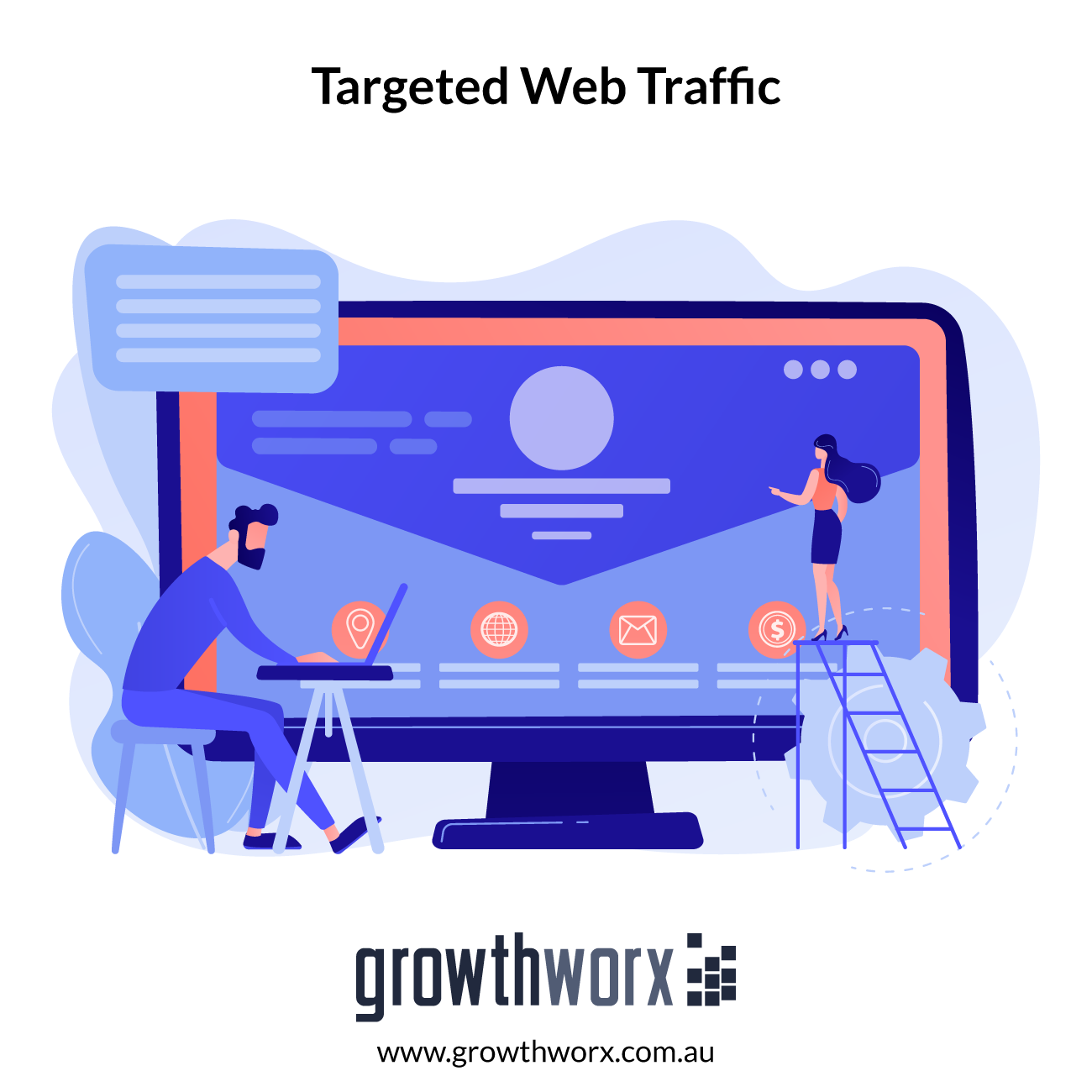 I will bring real usa,uk,aus targeted web traffic 1