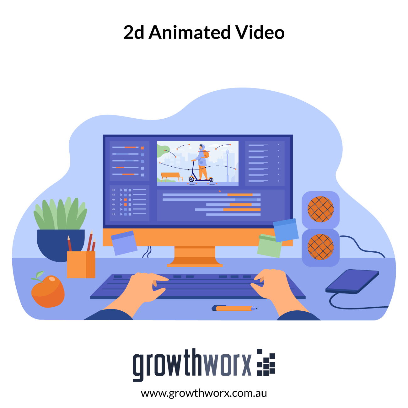 I will create 2d animated marketing video for business and sales 1
