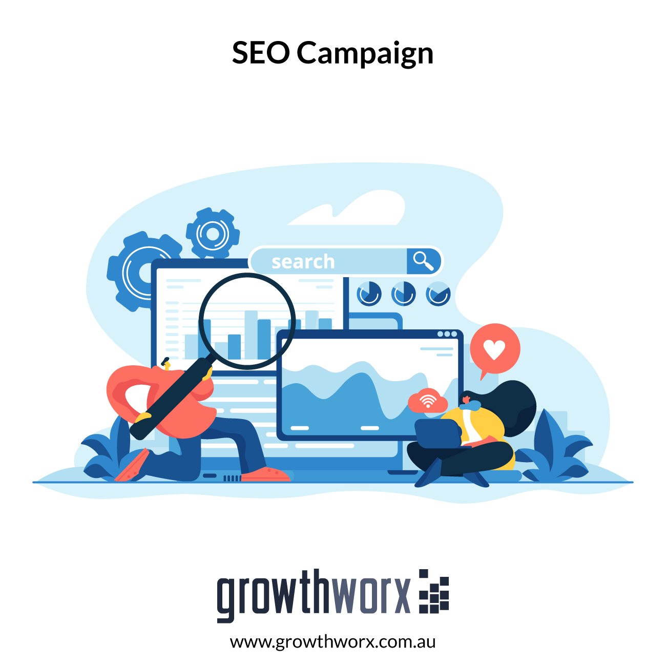 I will create a full SEO campaign for your website 1