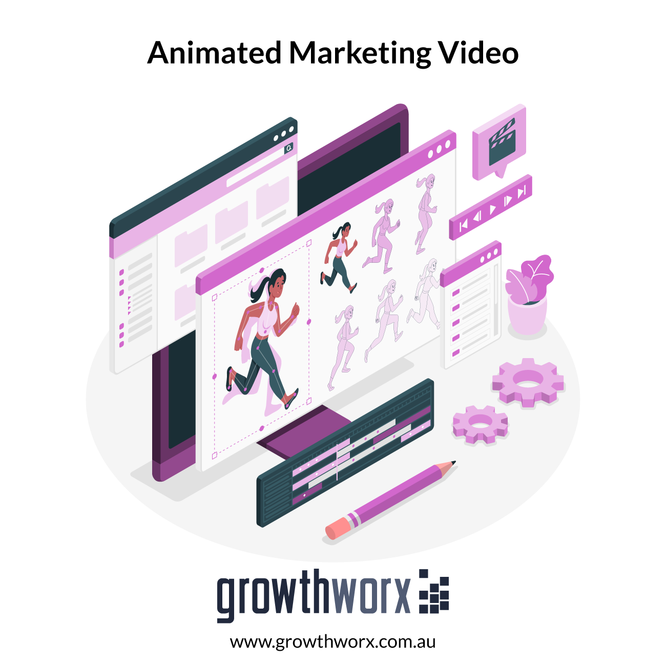 I will create animation marketing video and business sales video 1