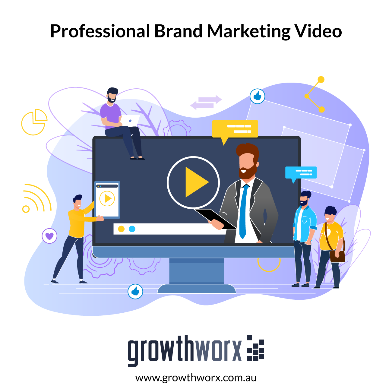 I will create professional brand marketing video for your business 1