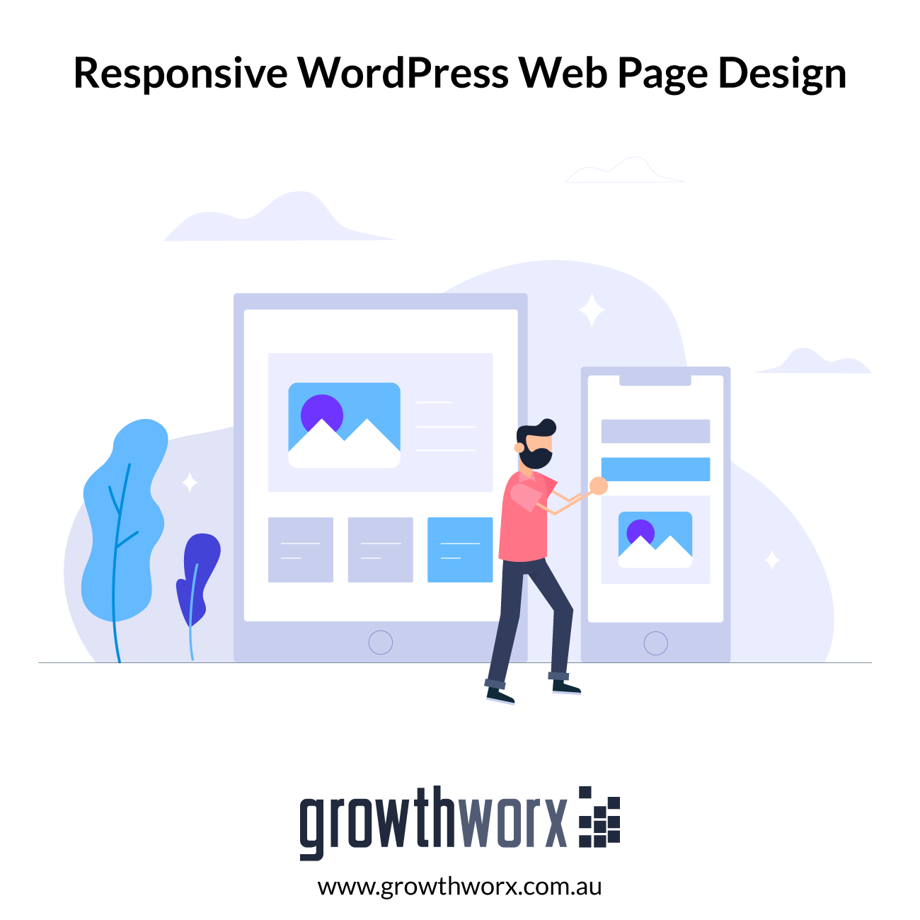 I will design a responsive wordpress web page with divi theme 1