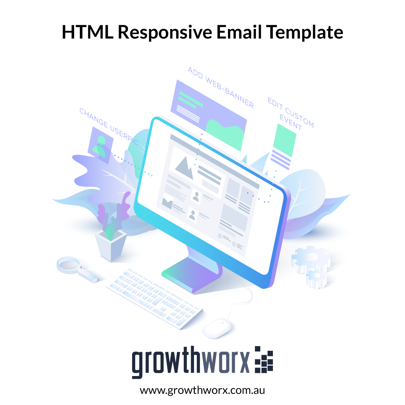 I will design and develop HTML responsive email template 1
