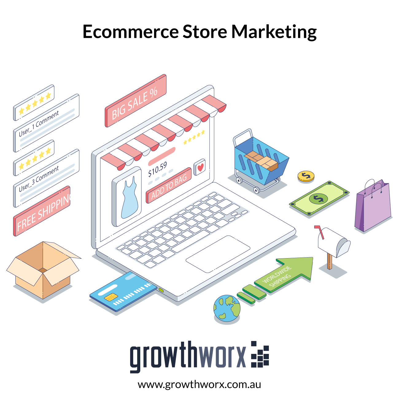 I will do marketing of your ecommerce store 1