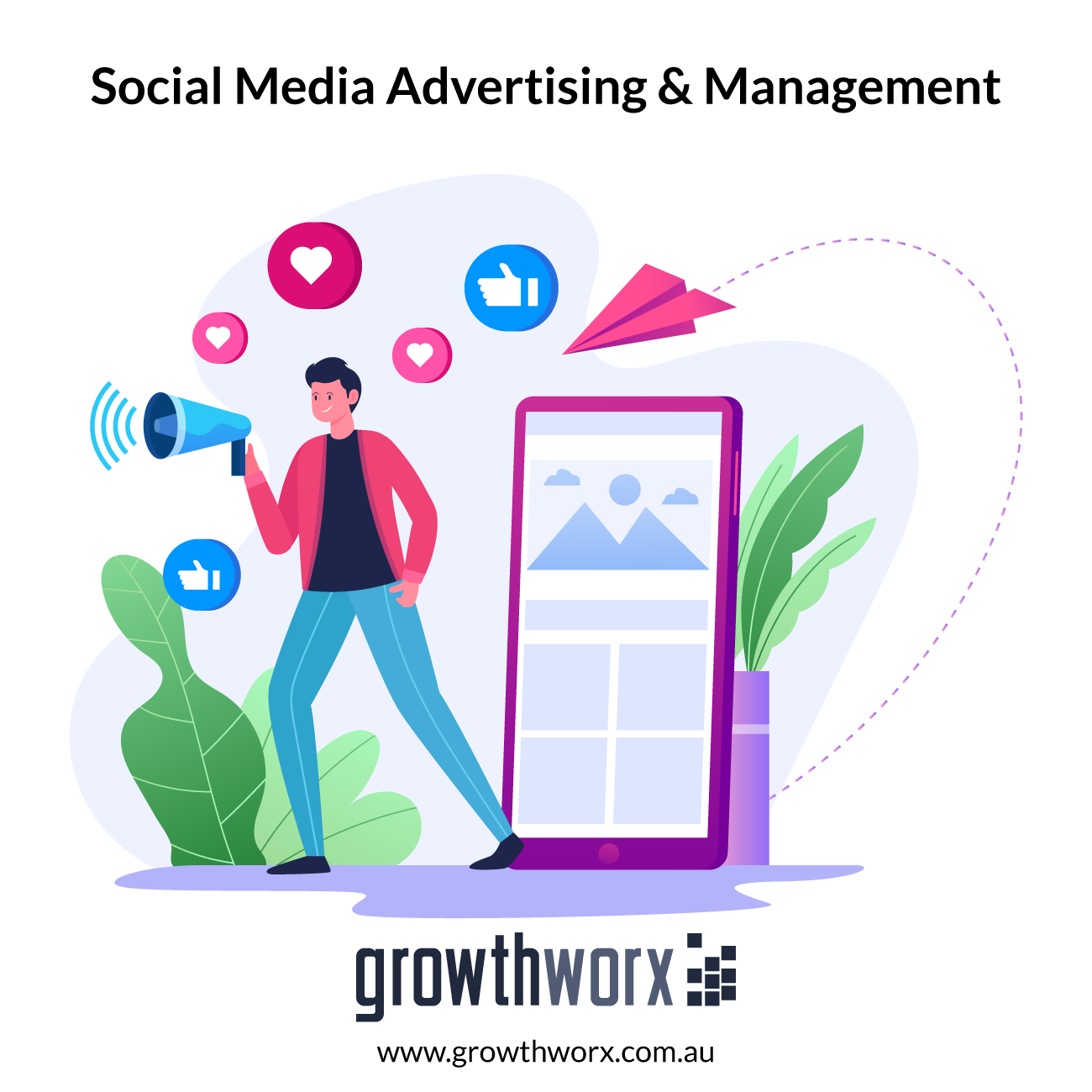 I will do social media advertising and management 1