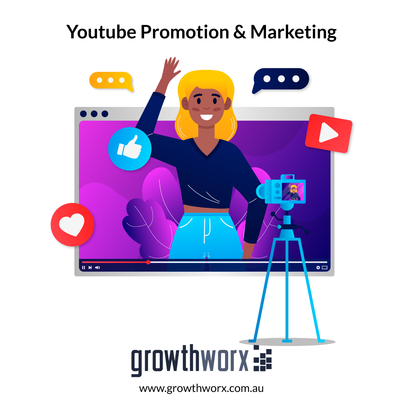 I will do viral youtube channel promotion and video marketing 1