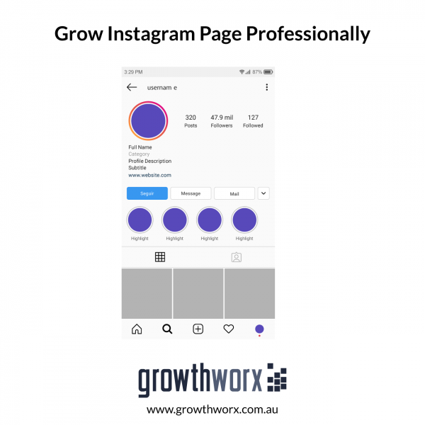 I will grow your instagram page professionally 1