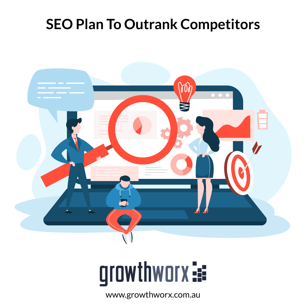 I will provide SEO plan to outrank your competitors 1