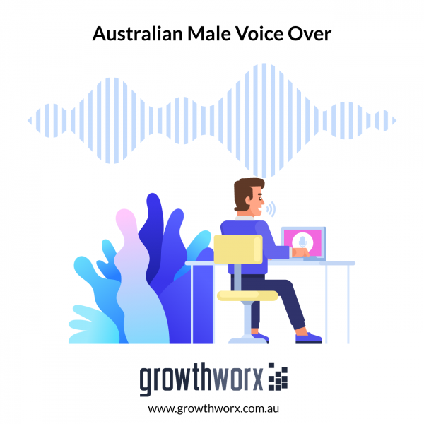I will record a professional australian male voice over 1