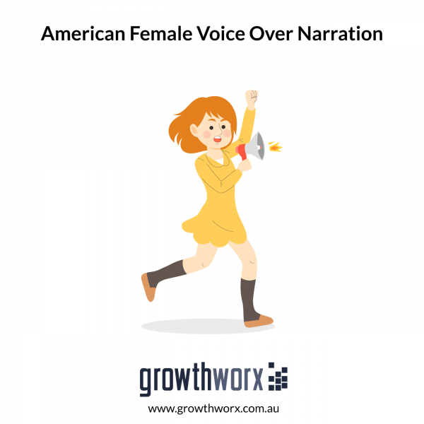 I will record an american female voice over narration 1