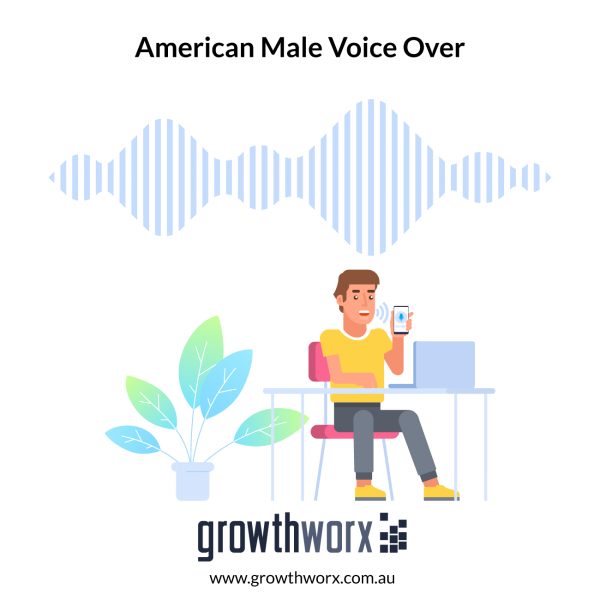 I will record an american male voice over 1