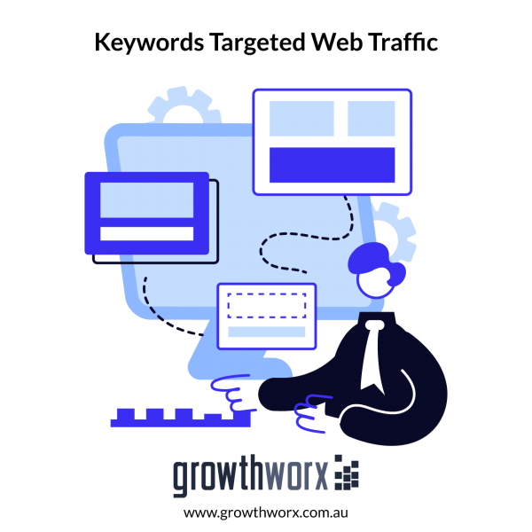 I will send keywords targeted web traffic with live proof analytics 1