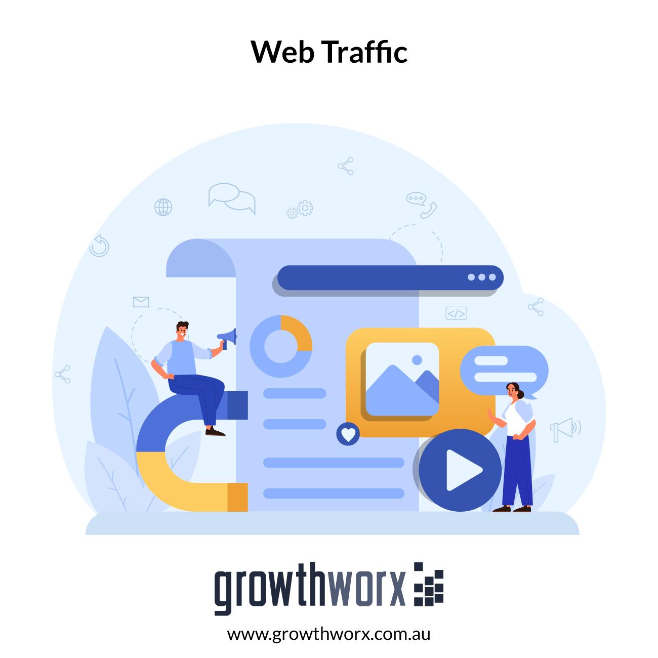 I will supply 30 days web traffic 1