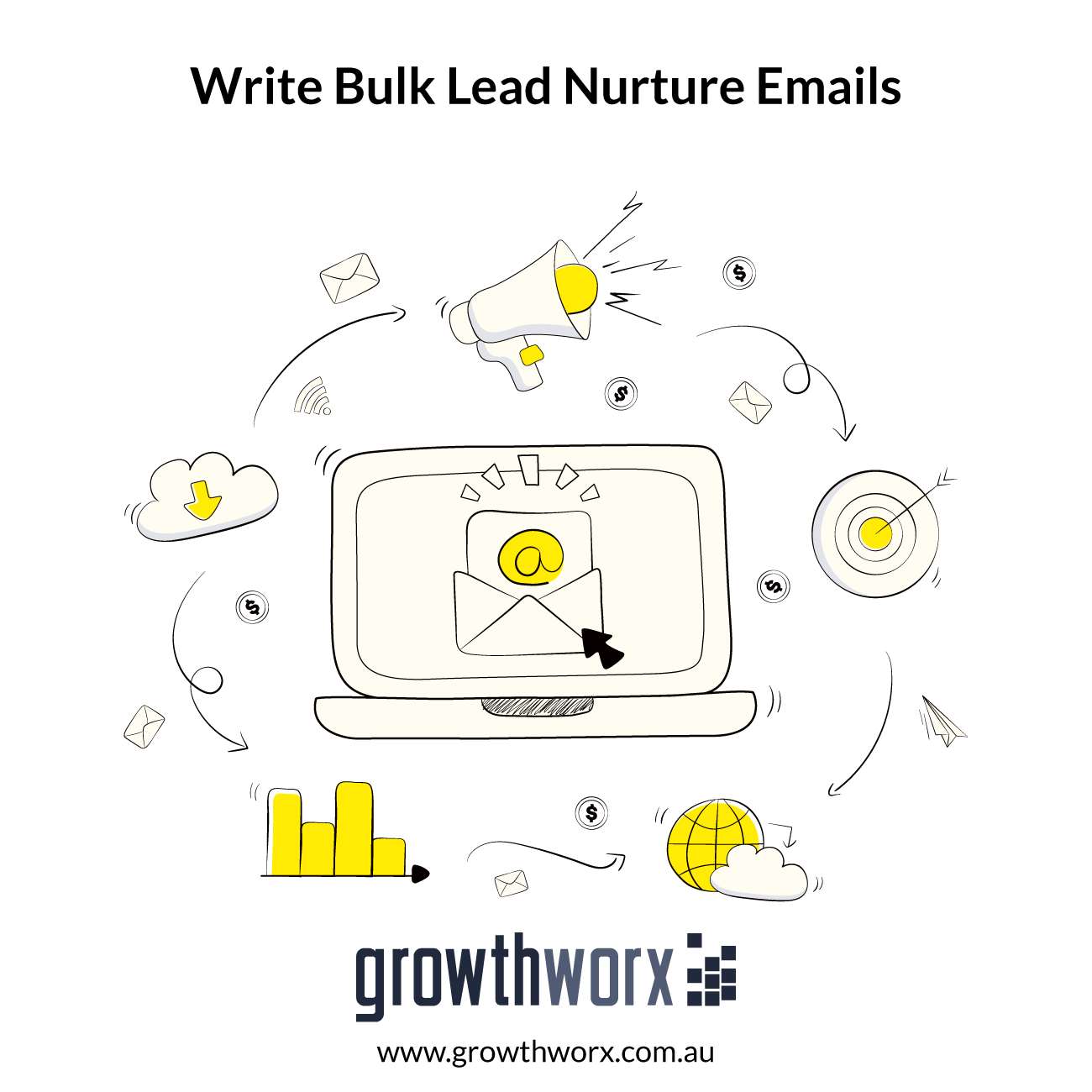 I will write bulk lead nurture emails for email marketing 1