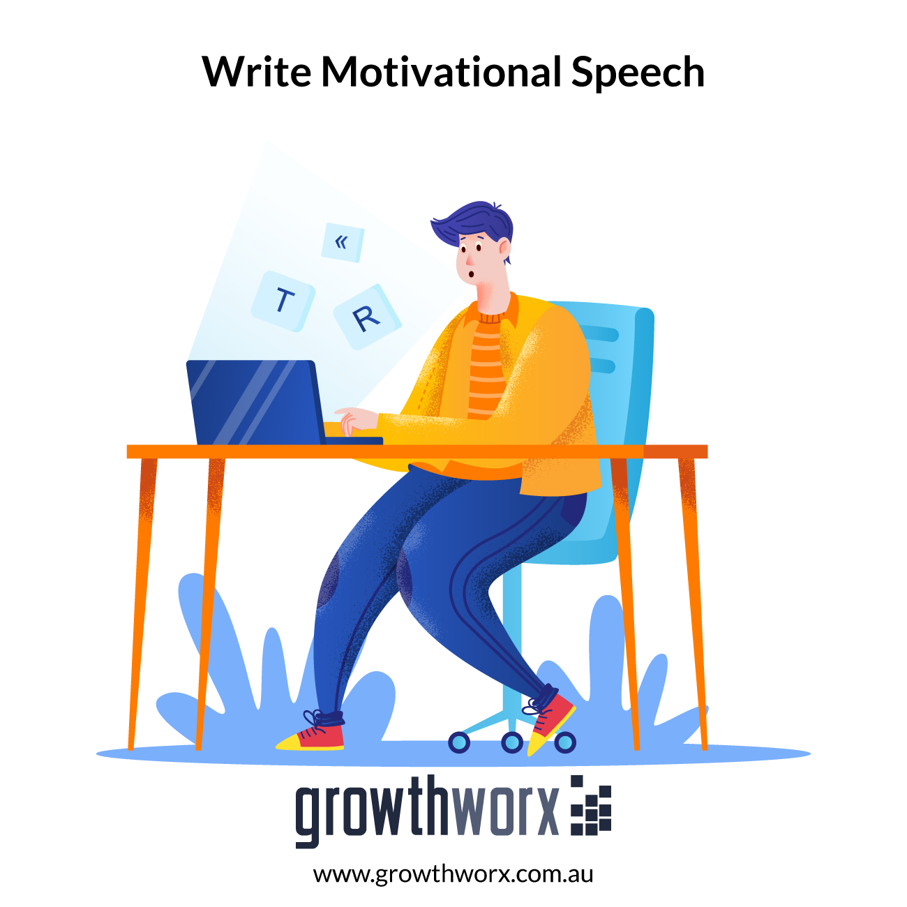 I will write you a motivational speech for your business 1