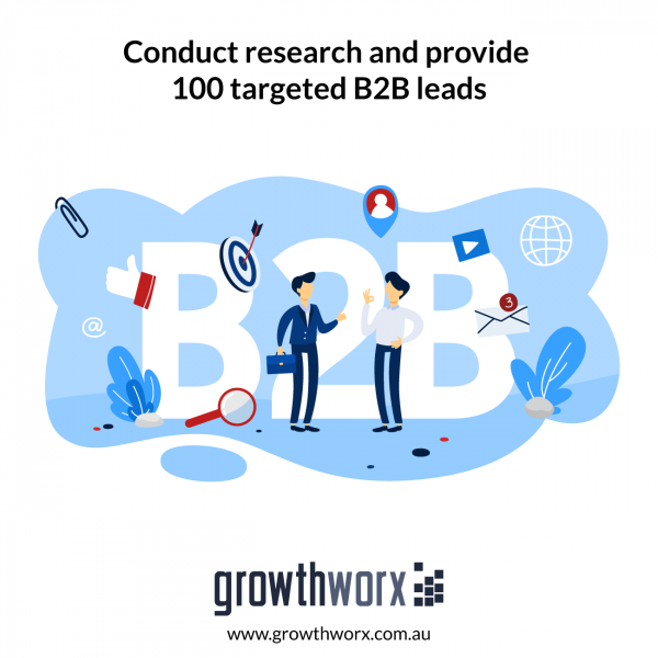 Conduct research and provide 100 targeted B2B leads 1