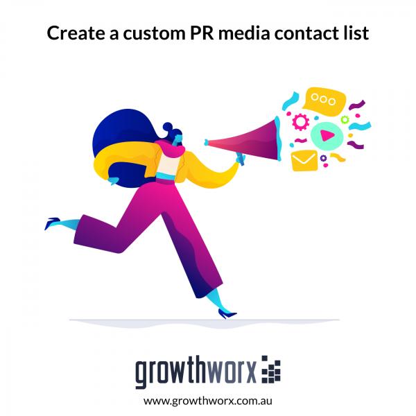 Create a custom PR media contact list 1