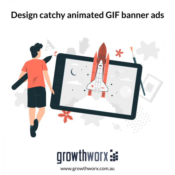 Design catchy animated GIF banner ads 1