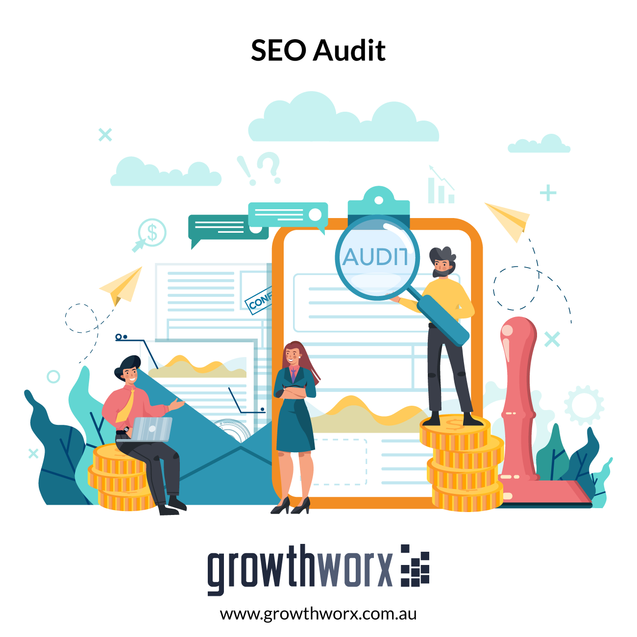 I will audit the SEO on your website 1