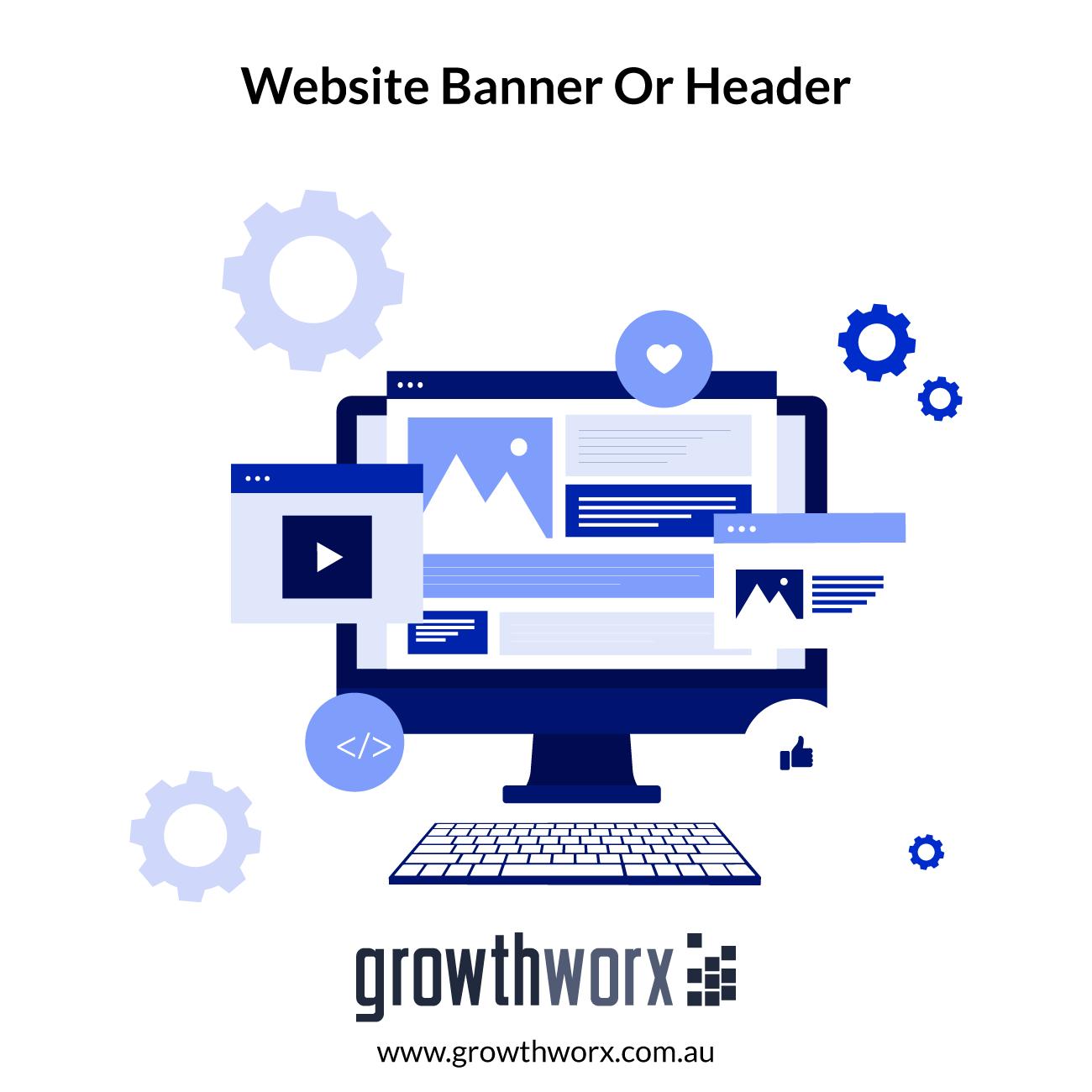 I will design a professional website banner or header 1