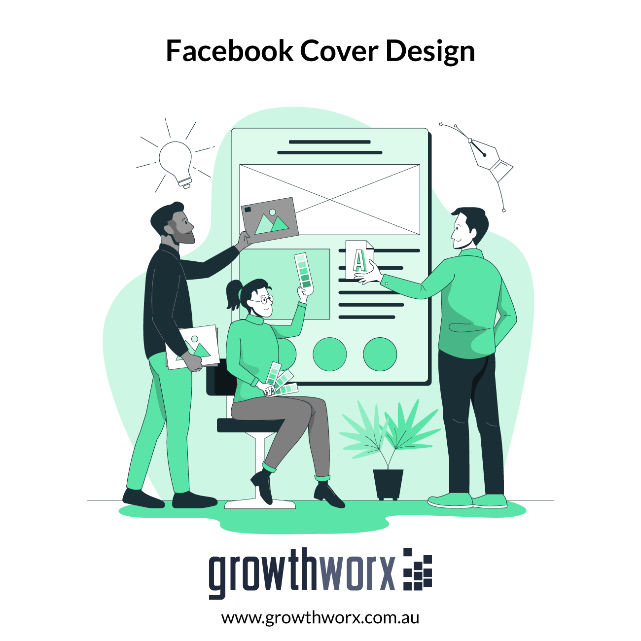 I will design an attractive and professional facebook cover 1