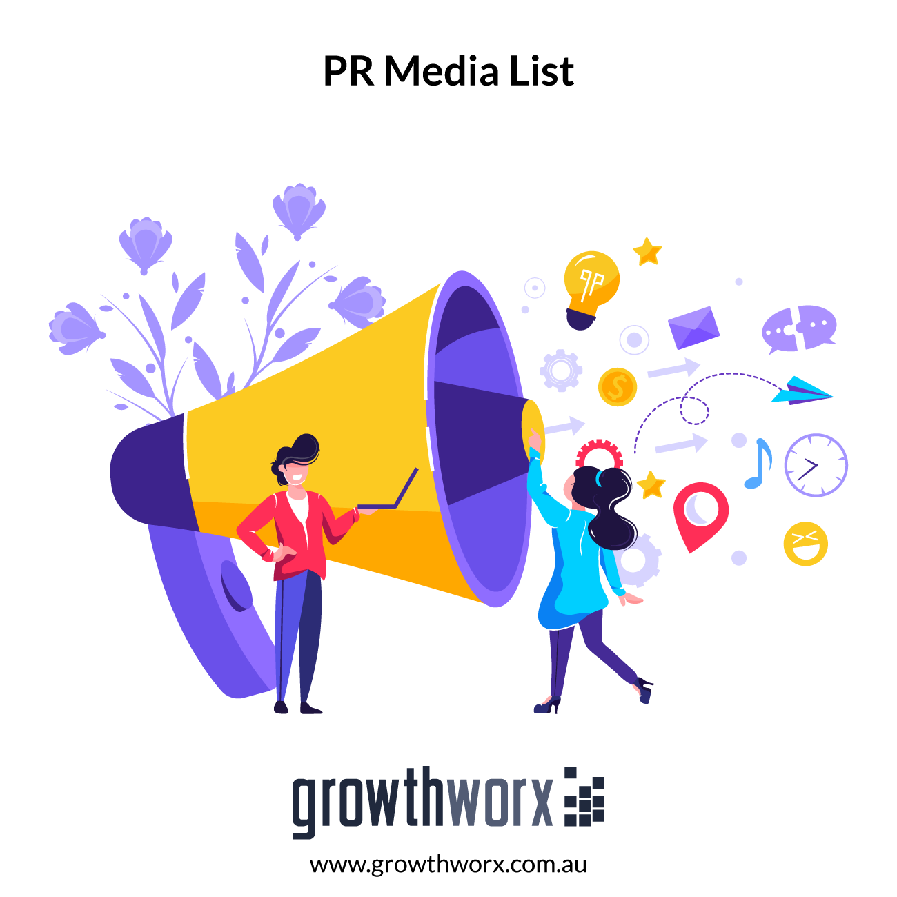 I will provide targeted PR media list with keyword, industry, location 1