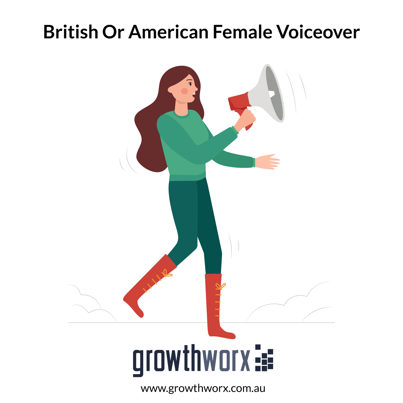 I will record a quality voiceover, british or american female accent 1