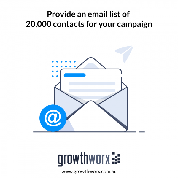 Provide an email list of 20,000 contacts for your campaign 1