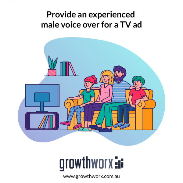 Provide an experienced male voice over for a TV ad 1