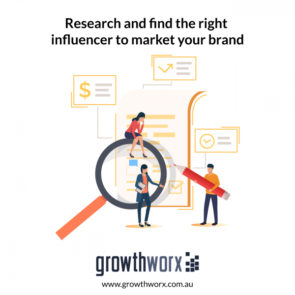 Research and find the right influencer to market your brand 1