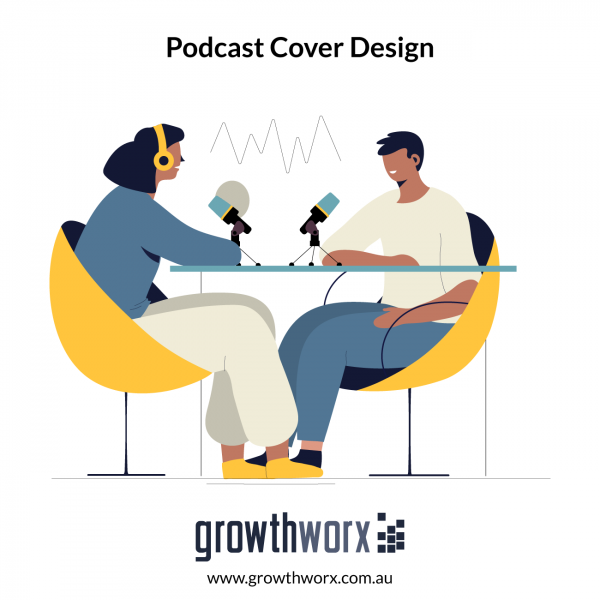 We will design a professional podcast cover art 1