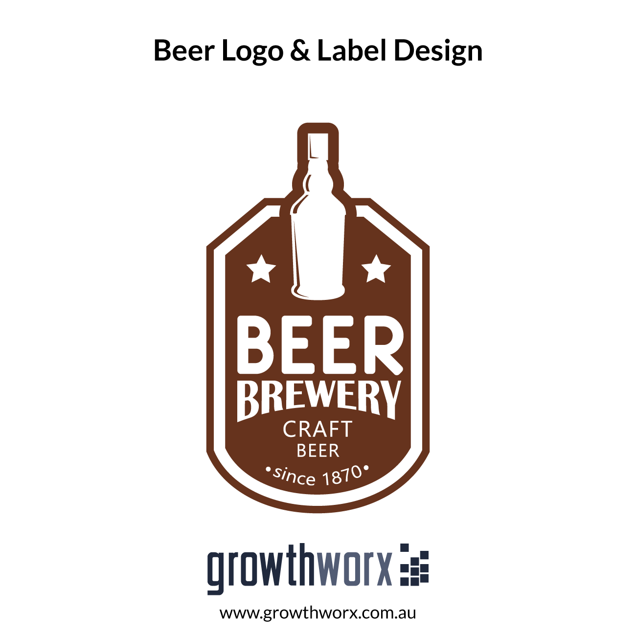 We will design beer logo and label 1