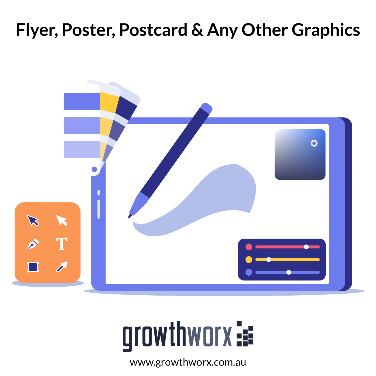 We will design flyer, poster, postcard or any other graphics 1
