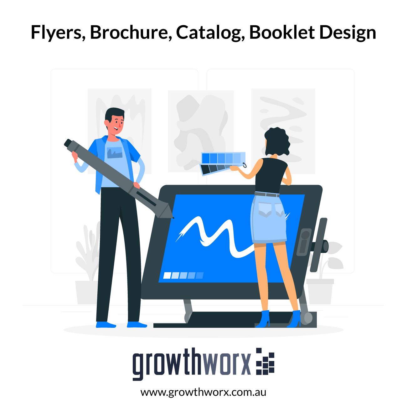 We will design flyers, brochure, catalog, booklet design 1
