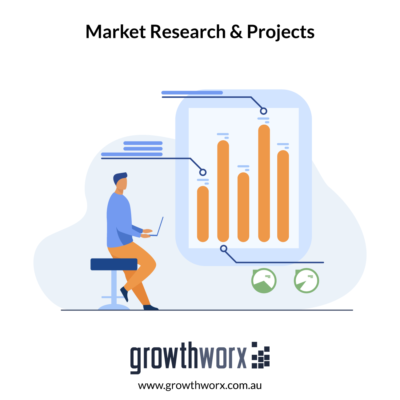 We will do market research and marketing projects 1