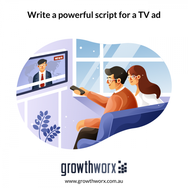 Write a powerful script for a TV ad 1