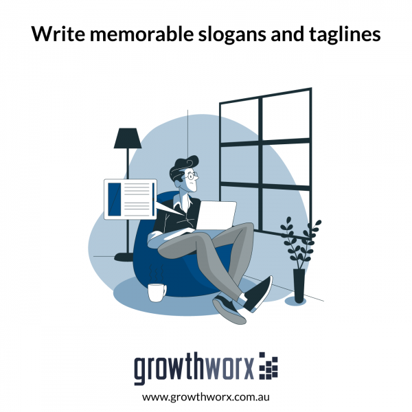 Write memorable slogans and taglines 1