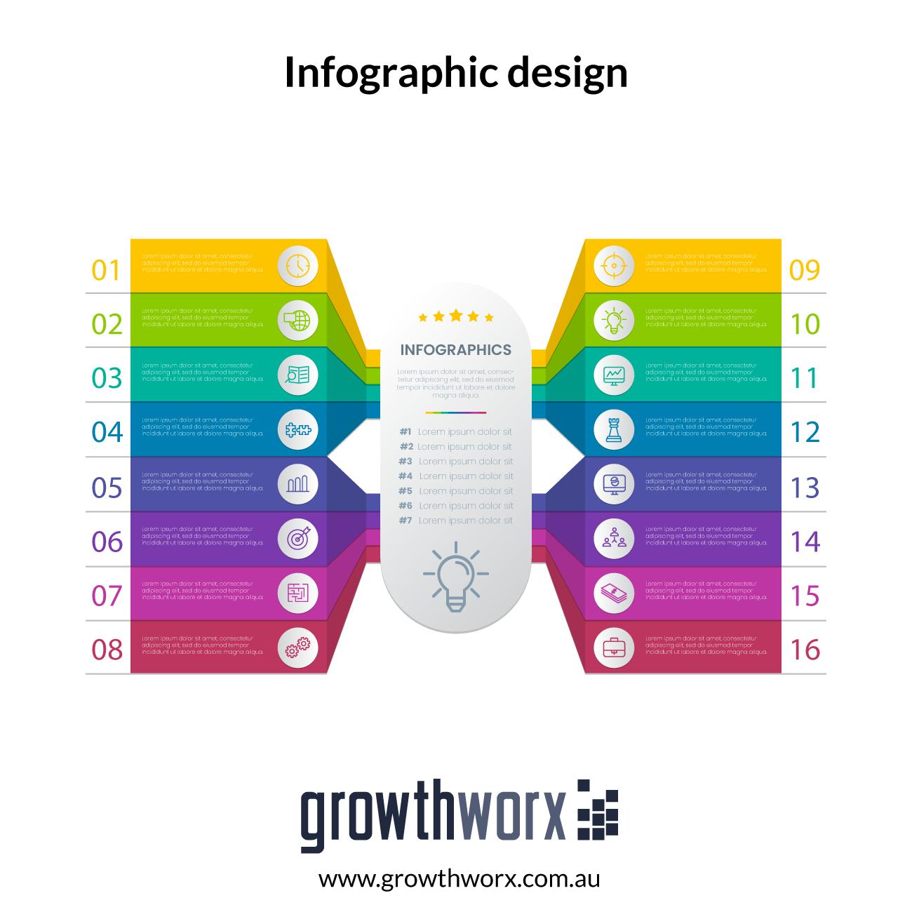10 Point basic Infographic design 1