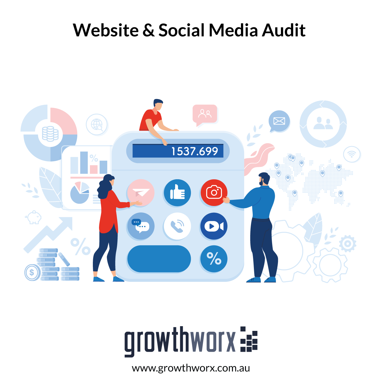Complete an audit of your website and social media, and provide a content strategy 1