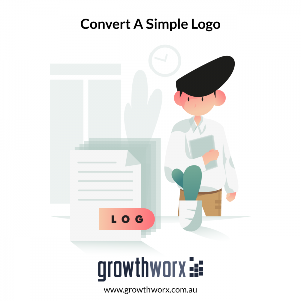 Convert a simple logo with text, icon and gradient colours into a EPS, PDF, SVG and high resolution raster files 1