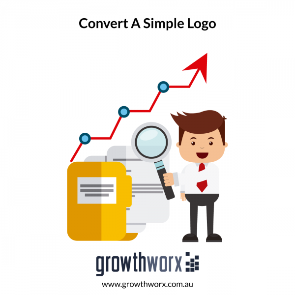 Convert a simple logo with text, icon and solid colours into a EPS, PDF, SVG and high resolution raster files 1