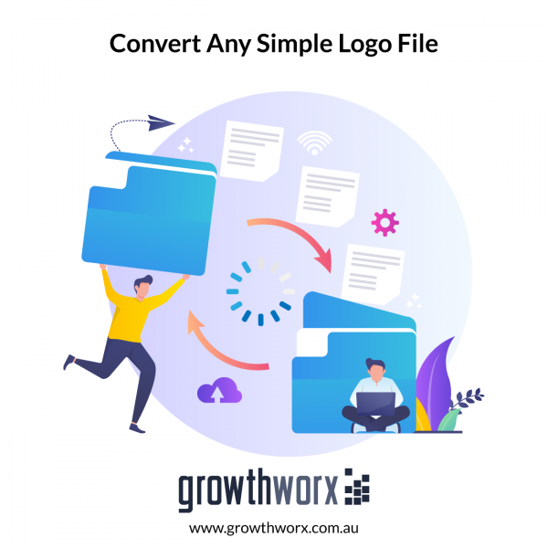 Convert any simple logo file into JPG, PSD, PNG, AI, EPS, SVG and PDF file with editable vector/source file. 1