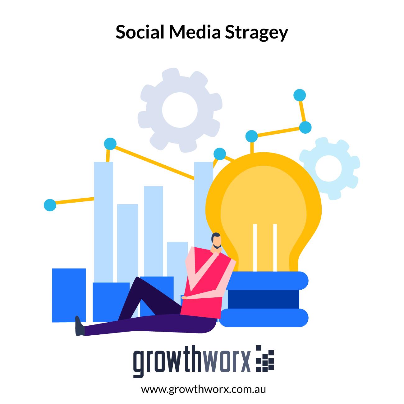 Create a basic social media stragey for start up businesses based on your goals 1