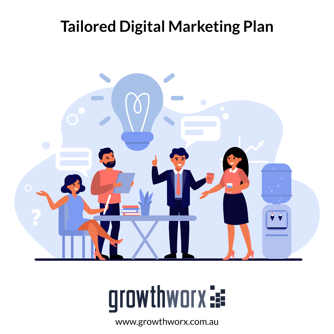 Create a tailored digital marketing plan with 3 months steps 1