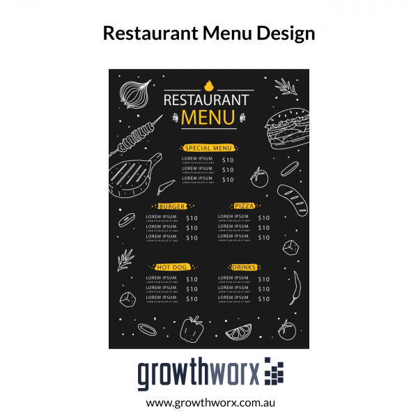 Design eyecatching editable restaurant flyer menu for Fold-able 1