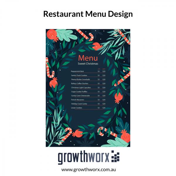 Design eyecatching editable restaurant flyer menu for Two Sides/Front back 1