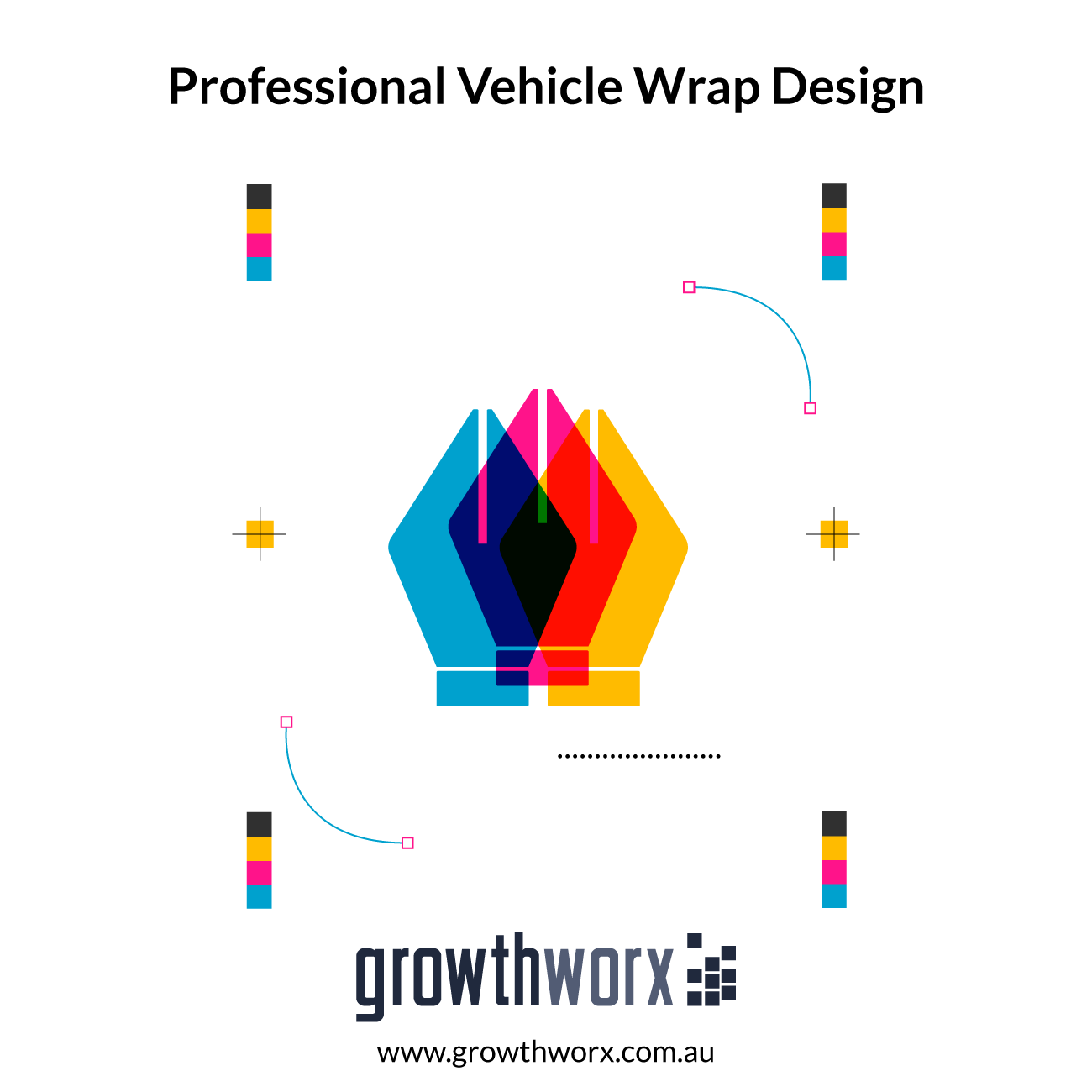 Design professional vehicle wrap for 2 sides 1