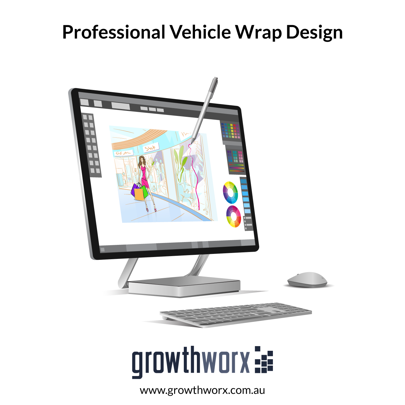 Design professional vehicle wrap for 4 sides 1